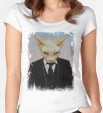 Mister Cat Women's Fitted Scoop T-Shirt