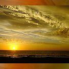 Framed Sunset - Ocean Reef, Perth, Western Australia by Karen Stackpole
