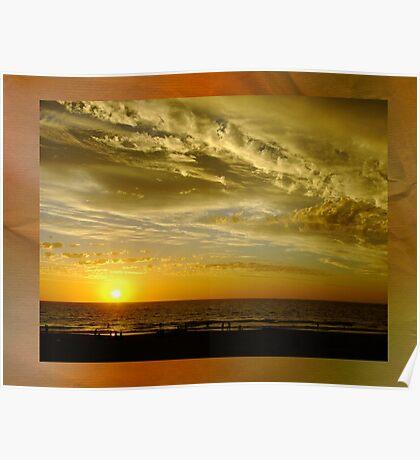 Framed Sunset - Ocean Reef, Perth, Western Australia Poster
