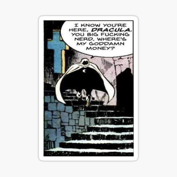 Moon Knight Dracula Sticker