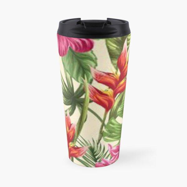 Tahitian flower patterns Travel Mug