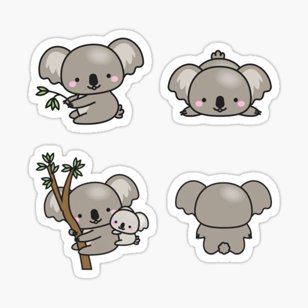 Kawaii Koala Sticker Pack Sticker