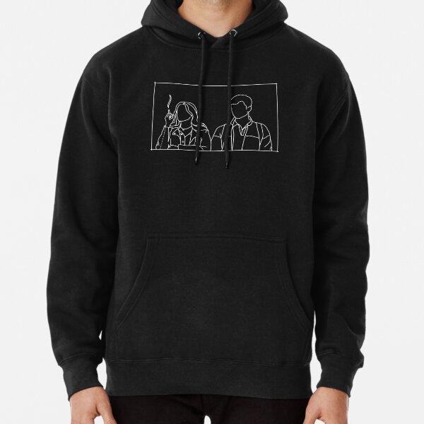 Ilustración estética de Maeve y Otis Educación sexual Sudadera con capucha
