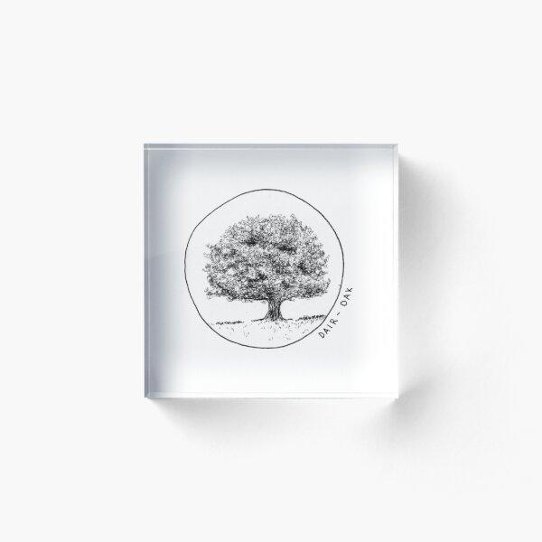 Dair (Oak) Gaelic Tree Acrylic Block