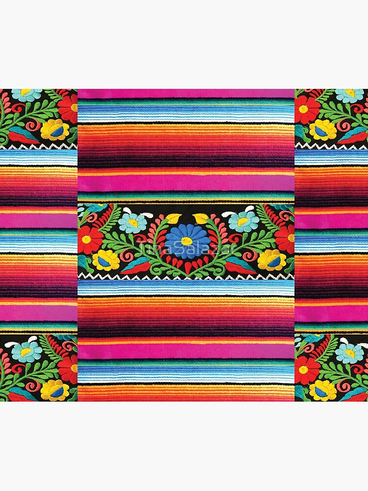 Serape and Flowers by TinaSalazar