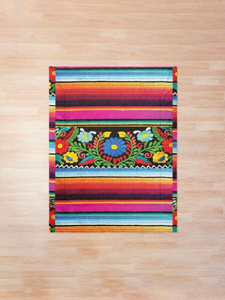 Alternate view of Serape and Flowers Comforter