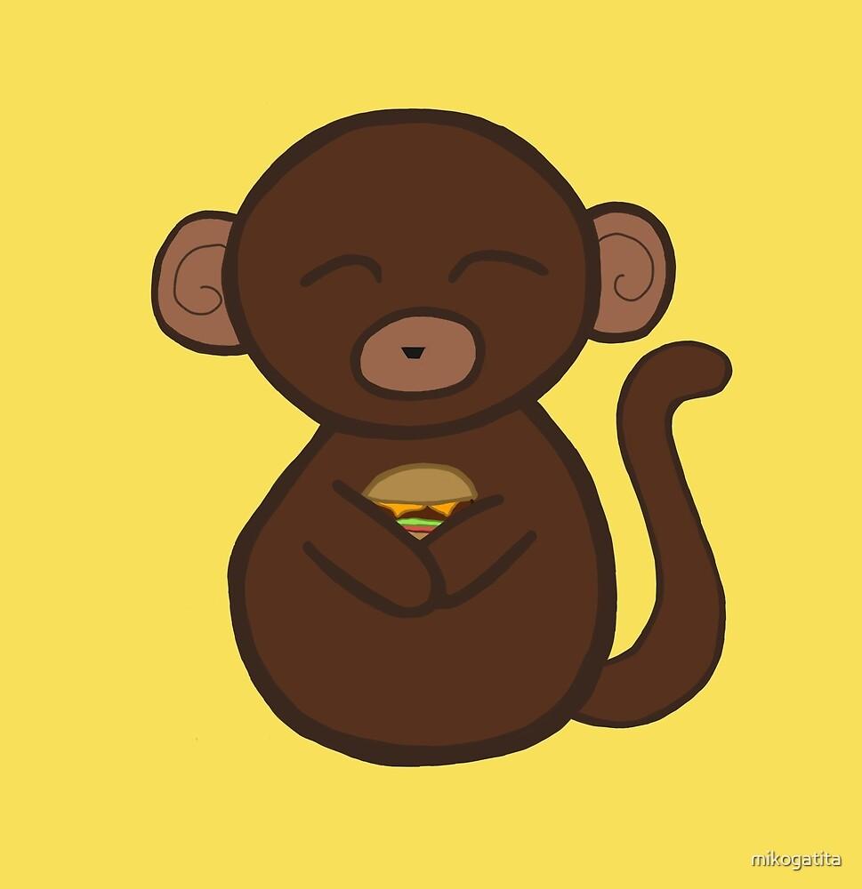 monkey loves burger by mikogatita