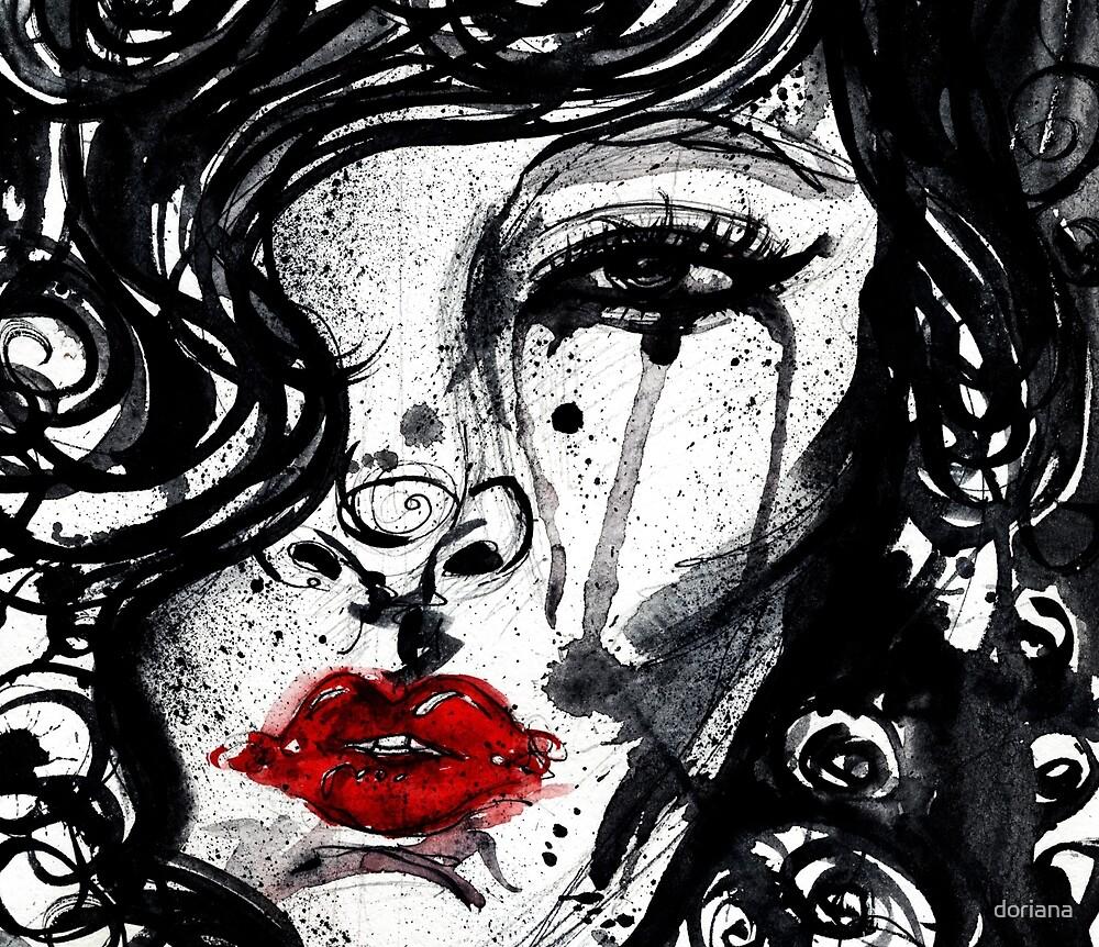 red lips by doriana