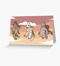 Mini Dinsaurs Greeting Card