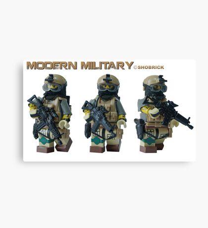 Modern Military Rabbit 2 Canvas Print