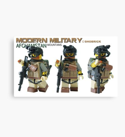 Modern Military Rabbit 3 Canvas Print