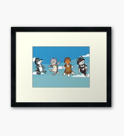 Mini Wolves Framed Print
