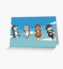 Mini Wolves Greeting Card