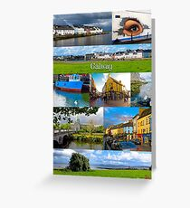 The vibrant city of Galway Greeting Card