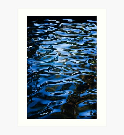 Waterpatterns in Blue Art Print