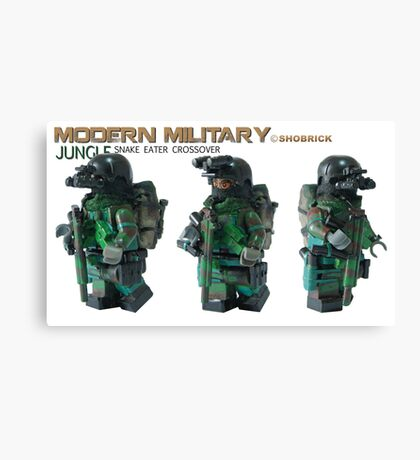 Modern Military Mamba jungle Canvas Print