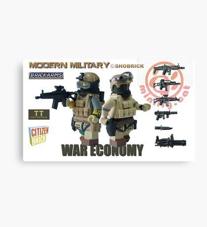 Modern Military War economy Canvas Print