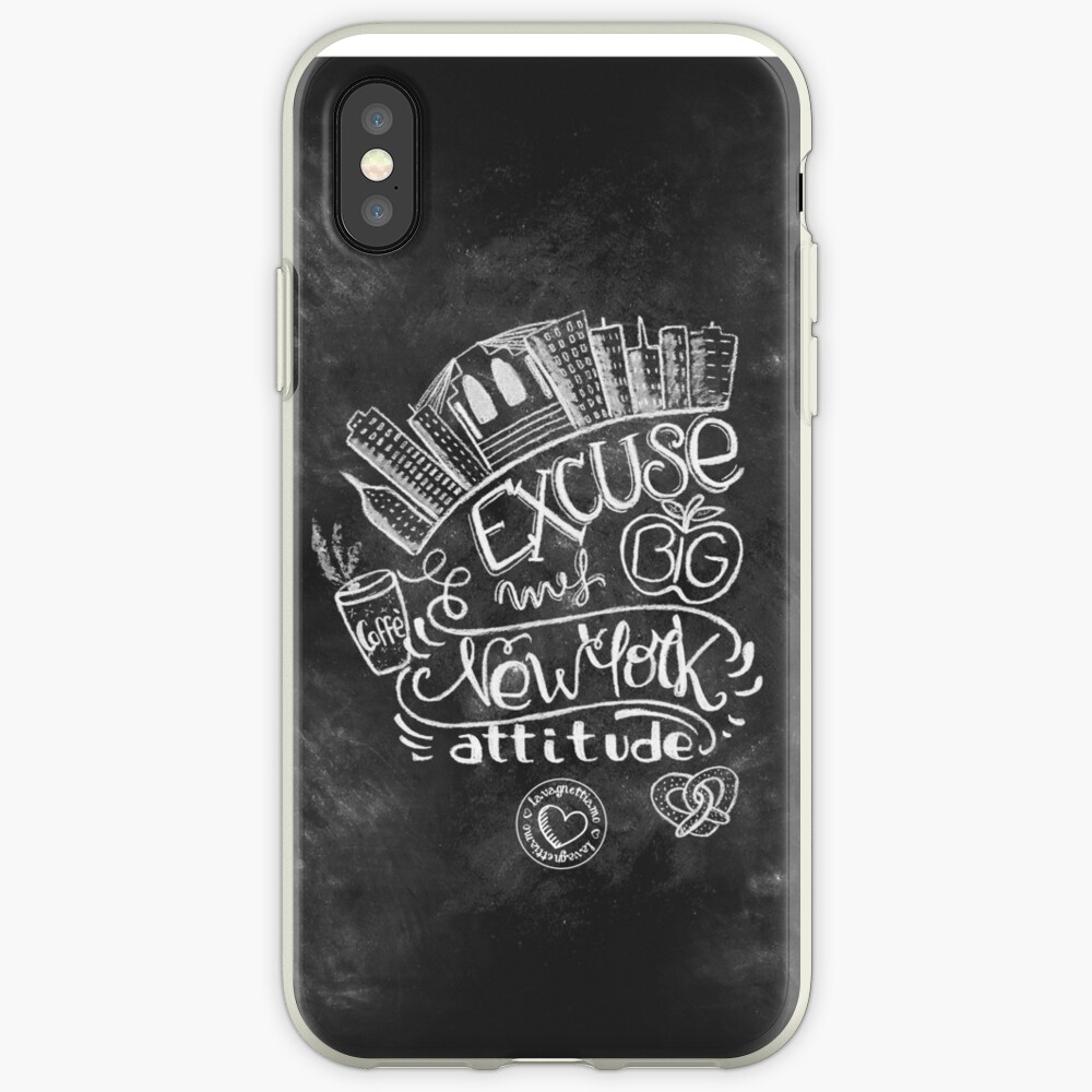 New York Attitude handmade chalk art design   iPhone Case & Cover