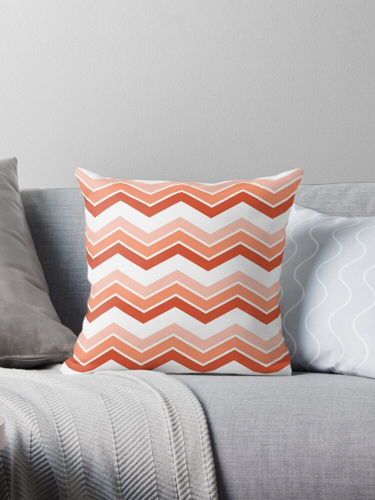 Coral Ombre Chevrons by ImageNugget
