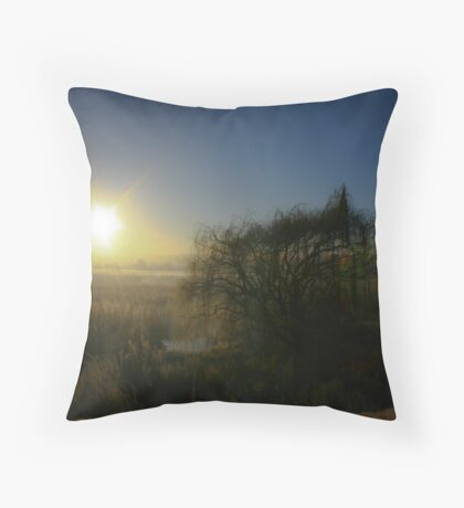 Reeds And Trees  Throw Pillow