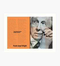 Frank L. Wright Spread (Mock) Art Print