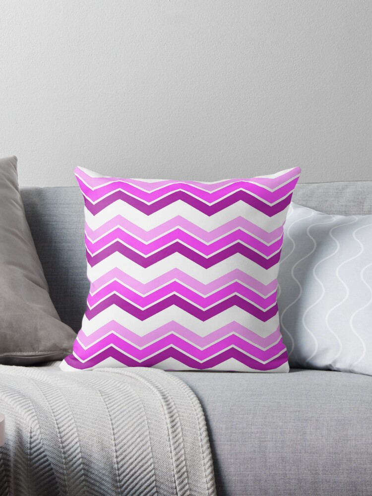 Magenta Ombre Chevrons by ImageNugget