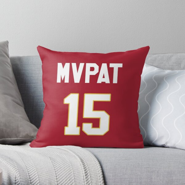 Limited Edition Patrick Mahomes Jersey Style Shirt, MVPAT, MVP, Kansas City Chiefs Shirt, Mug, Hoodie & Wall Tapestry! Throw Pillow