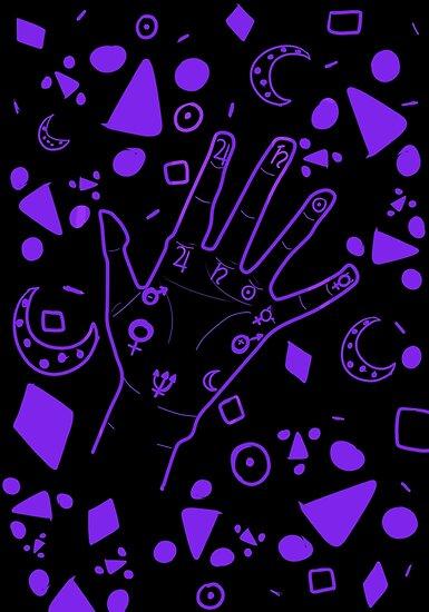 Palmistry- Black & Violet by AJWhereArtThou