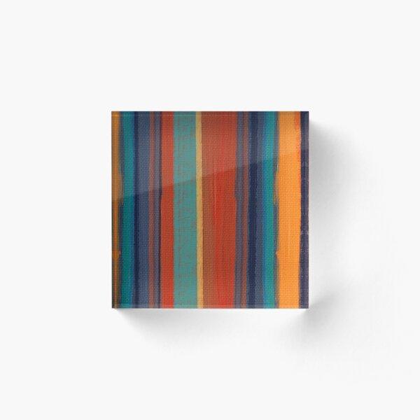 santa anna stripes Acrylic Block