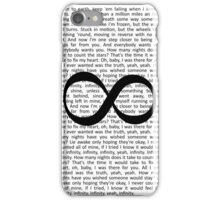 One Direction Infinity Lyrics iPhone Case/Skin