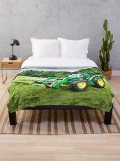 John Deere Tractor Throw Blanket