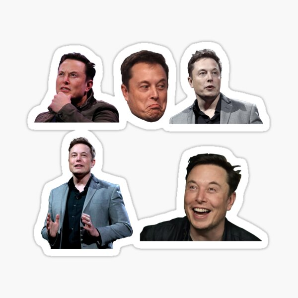 Coffret Elon Musk Sticker