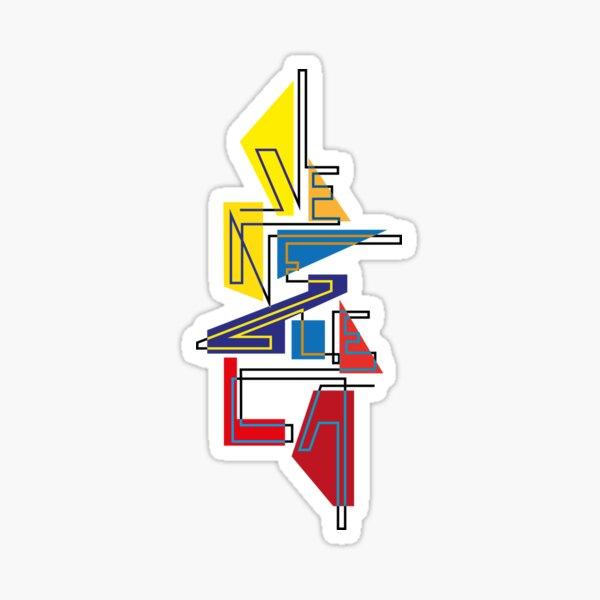 Lettering Venezuela gráfica tricolor Pegatina