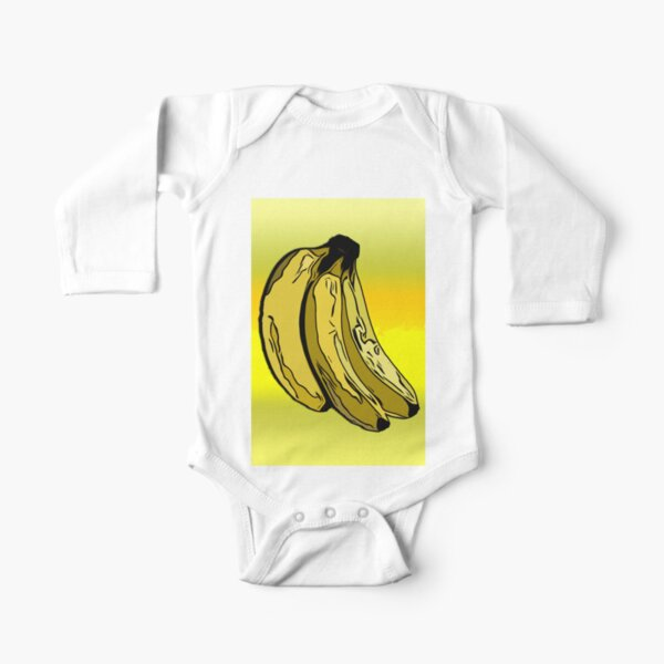 The Banana/ Fruit Shop Long Sleeve Baby One-Piece