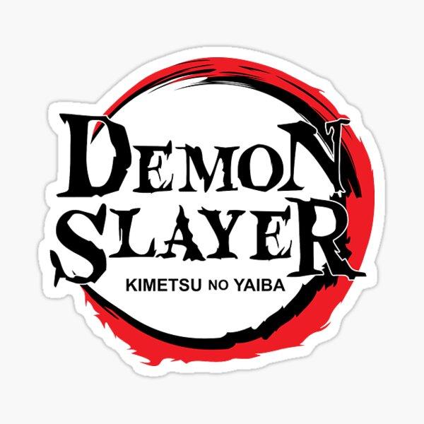 """""""Demon Slayer / Kimetsu no yaiba logo title name"""" Sticker ..."""