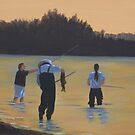 Fishing on the Fraser River by Melodie Douglas