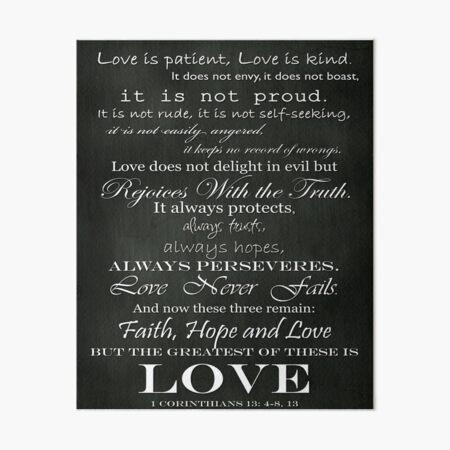 Love Is Patient Art Board Print