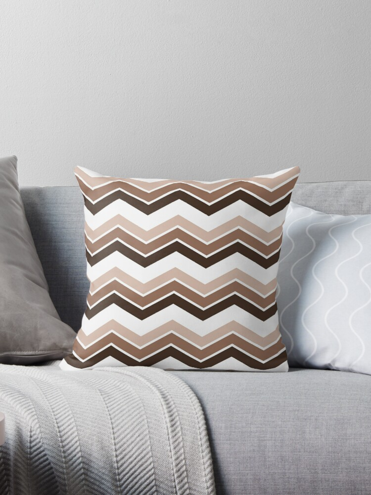Chocolate Ombre Chevrons by ImageNugget