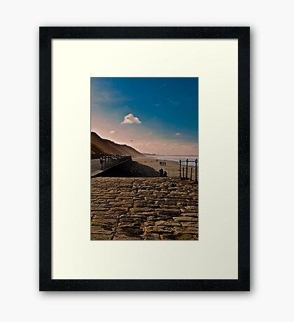 Saltburn Beach Framed Print