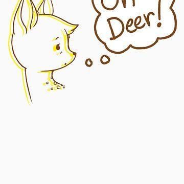 Quizzically Cute Deerie by mangakaluna