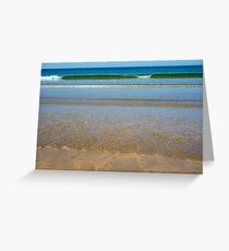 gentle soft waves lashing onto ballybunion sand Greeting Card