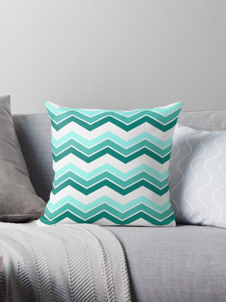Teal Ombre Chevrons by ImageNugget