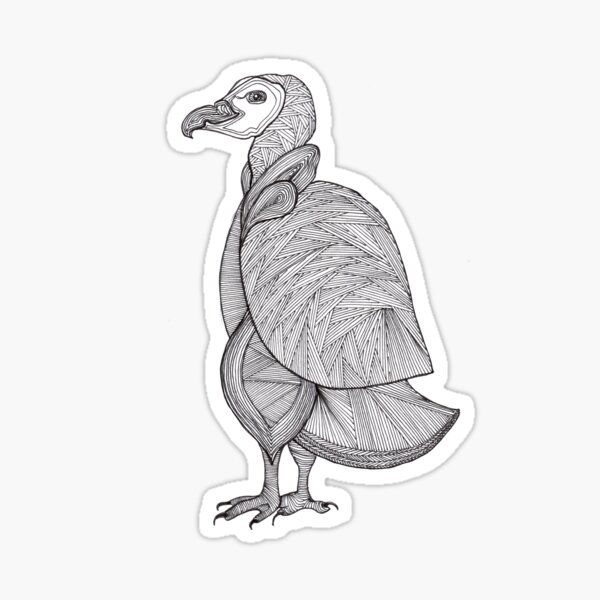 This is a penguin - vulture - or just a similar bird;) Sticker