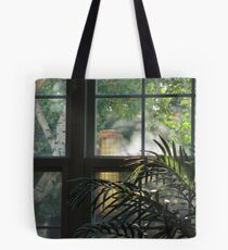 """Window and Birdfeeder"" Tote Bag"