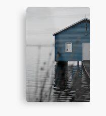 """Crawley Edge"" Boat Shed Metal Print"