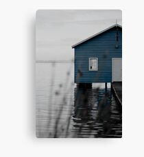"""Crawley Edge"" Boat Shed Canvas Print"