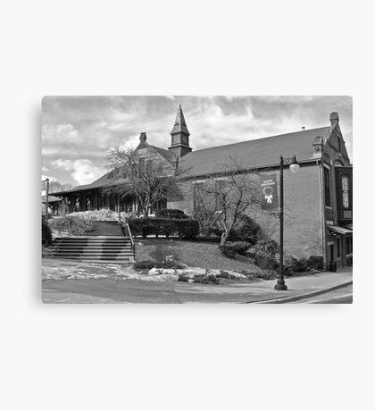 Woonsocket Railroad Station - P&W RR Line Canvas Print