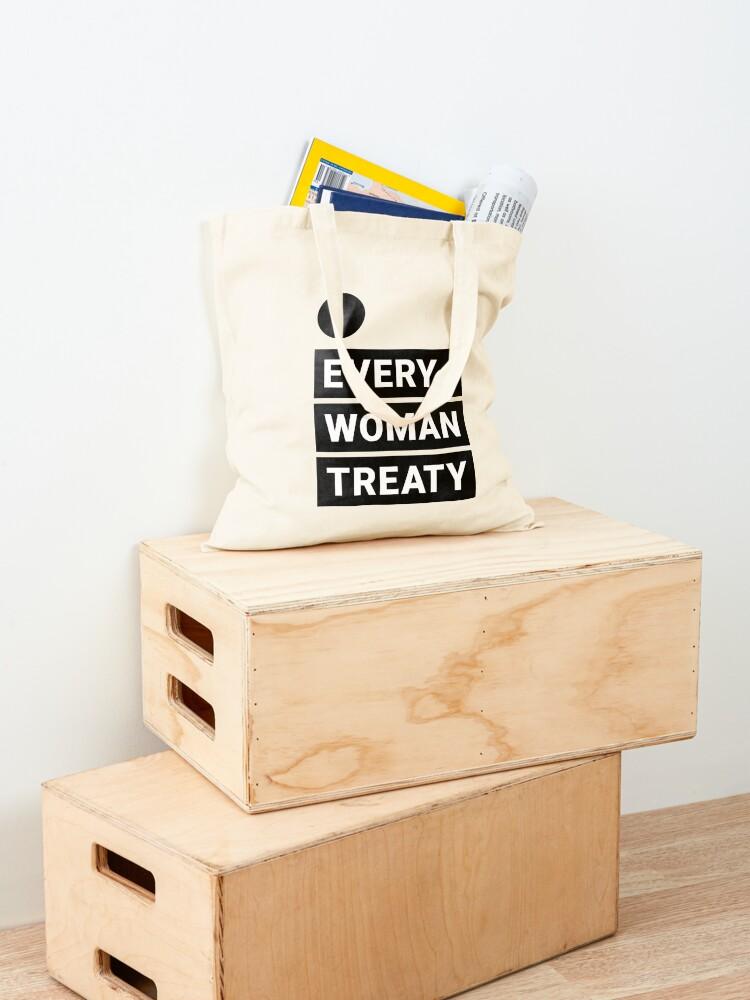 Alternate view of English Every Woman Treaty Tote Bag