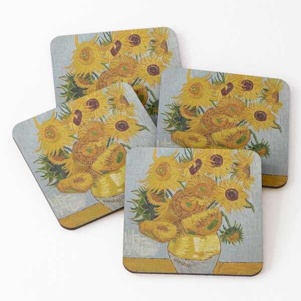 Sunflowers by Vincent Van Gogh Coasters (Set of 4)