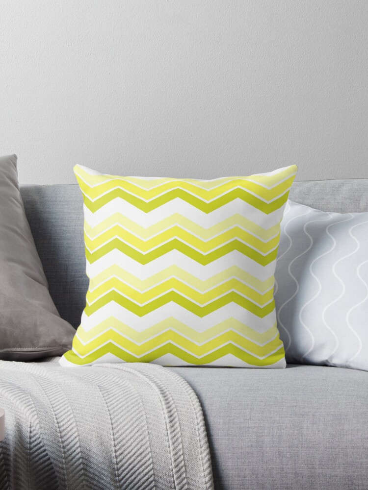 Chartreuse Ombre Chevrons by ImageNugget